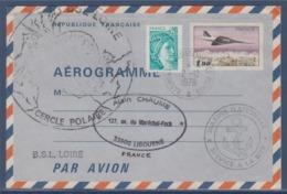 = Bateau Assistance Des Pêches 2.12.79 Marine Nationale Service à La Mer BSL Loire Cercle Polaire Aérogramme 1005-AER - Events & Commemorations
