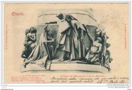 TRENTO ( AUSTRIA ):  DETTAGLIO  DEL  MONUMENTO  A  DANTE  ALIGHIERI  -  PIEGHINA  D' ANGOLO  -  FOTO  -  FP - Monumenti