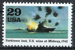 1992 Etats Unis USA United States MNH - Military World War II Yorktown Lost Sinking Ship US Wins At Midway - United States
