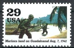 1992 Etats Unis USA United States MNH - Military World War II American Marines Lands At Guadalcanal Guam And Philippines - United States