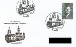 SPAIN. POSTMARK 80th ANNIV. VALENCIA, CAPITAL OF THE II REPUBLIC. 2017 - España