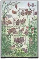 Czech Republic - Tcheque 2002 Yvert BF 15 - Nature Protection. Fauna - Butterflies - MNH - Tchéquie