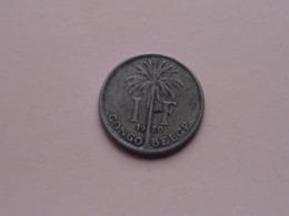 1920 - 1 Franc - KM 20 (FR) ( For Grade, Please See Photo ) ! - Congo (Belgisch) & Ruanda-Urundi