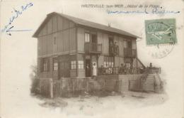 CPA 50 Manche Hauteville Sur Mer Hotel De La Plage Carte Photo - Francia