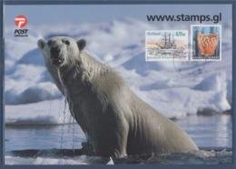 = Ours Polaire, Carte Groenland, Godthaab, Kalaallit Nunaat, 2 Timbres, 18.10.2004 - Eventos Y Conmemoraciones
