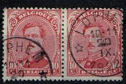 138 Paire  Obl Relais Lophem - 1915-1920 Albert I