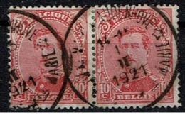 138 Paire  Obl Relais Maria-Audenhove/Audenhove-Ste Marie - 1915-1920 Albert I