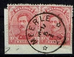 138B  X2  Obl Relais Meerle - 1915-1920 Albert I