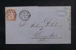 SUISSE - Lettre De Zürich Pour Menzinen En 1858, Affranchissement Plaisant Type Helvetia - L 47995 - Lettres & Documents