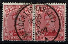 138 Paire  Obl Relais Maldevert (Brabant) - 1915-1920 Albert I