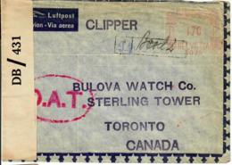 OAT EMA Vol Clipper Pour Canada. Censure. - Oblitérés