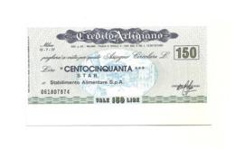 1977 - Italia - Credito Artigiano - STAR Stabilimento Alimentare S.p.A. - [10] Scheck Und Mini-Scheck