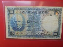 ISLANDE 10 KRONUR 1928 CIRCULER (B.9) - IJsland
