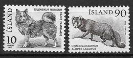 Islande 1980 N° 503/504 Neufs Animaux, Chien Et Renard - Nuovi
