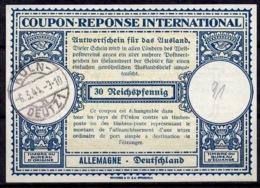 KÖLN DEUTZ 6.3.44 Auf Int. Antwortschein Reply Coupon ReponseIAS IRCDeutschland Für Die Heimatsammlung - Marcofilie - EMA (Printmachine)