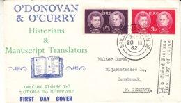 Irlande - Lettre FDC De 1962 - Oblit Baile Atha Cliath - Savants - Valeur 7,50 Euros - 1949-... Repubblica D'Irlanda