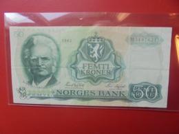 NORVEGE 50 KRONUR 1982 CIRCULER (B.9) - Norvegia