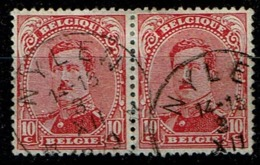 138 Paire  Obl Relais Nylen - 1915-1920 Albert I