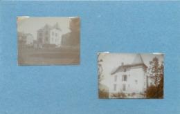 GERARDMER (vosges) - Maisons à Identifier  (photo En 1904, Format 5cm X 3,8cm Environ) - Orte