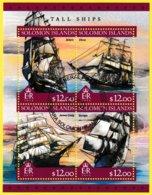 Bloc Feuillet Oblitéré De 4 T.-P. - Tall Ships Grands Voiliers Belem Elissa James Craig Europa - Îles Salomon 2016 - Isole Salomone (1978-...)