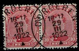 138 Paire  Obl Relais Oorderen - 1915-1920 Albert I
