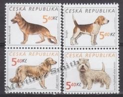 Czech Republic - Tcheque 2001 Yvert 277/ 80 Fauna - Breed Dogs - MNH - Tchéquie