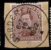 140C  Obl Relais Oorderen - 1915-1920 Albert I