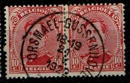 138 Paire  Obl Relais Orsmael-Gassenhoven - 1915-1920 Albert I
