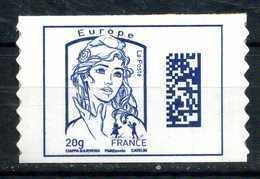 ADHESIF N° 1176a DATAMATRIX EUROPE DE CARNET AVEC LE GRAMMAGE 20 Gr NEUF** - 2013-... Marianne De Ciappa-Kawena
