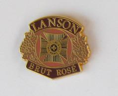 1 Pin's BOISSON/CHAMPAGNE - LANSON BRUT ROSE Signé EOLE - Dranken