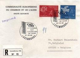 O24  CECA - EGSK  Congrès Sur L'utilisation De L'acier 1964 Luxembourg Recommandé   TTB - European Ideas