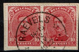 138 Paire  Obl Relais Raevels - 1915-1920 Albert I