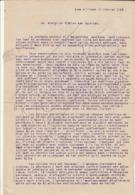Très Rare Lettre épiscopale Du 17 Février 1943 Sur La Déportation Massive Du Peuple Juif Ainsi Que Le STO..... - 1939-45