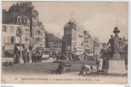 BOULOGNE SUR MER LE SQUARE COQUELIN ET LA RUE DE BOSTON TBE - Boulogne Sur Mer