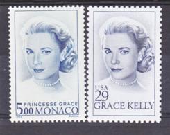 Monaco 1871 Grace Kelly Et Timbre USA  1993. Neuf ** TB  MNH Sin Charnela - Monaco