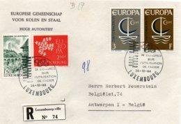 O33  CECA - Congrès Sur L'utilisation De L'acier - Europa 1966 Luxembourg Recommandé    TTB - European Ideas