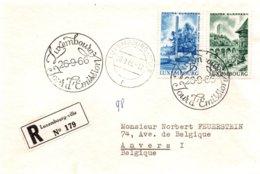 O34  Centre Européen - Monument Schuman 1966 Luxembourg Recommandé    TTB - European Ideas