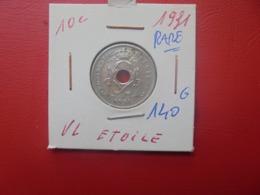 Albert 1er. 10 Centimes 1931 VL RARE ! (A.2) - 04. 10 Centimes