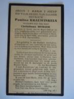 Doodsprentje Paulina Kraewinkels Leuth 1836 Stockheim 1932 Wed Christiaan Medaer - Santini