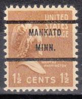 USA Precancel Vorausentwertung Preo, Bureau Minnesota, Mankato 805-71 - Vereinigte Staaten