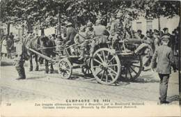 Belgique - Bruxelles - Campagne De 1914  - Les Troupes Allemandes Boulevard Bolwerk - Guerre 1914-18