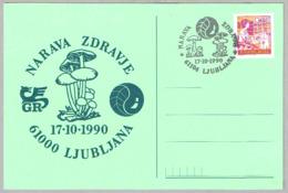 SETAS - MUSHROOMS - CHAMPIGNONS. Ljubljana, Yugoslavia, 1990 - Hongos