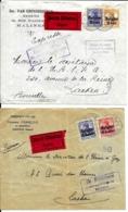 2 X Lettre Deutsches Reich  EXPRÈS   JEMAPPES ( MONS ) + MALINES - Guerre 14-18
