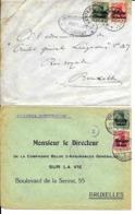 2 X Lettre Deutsches Reich    NAMUR  +  WESTERLOO  ( TURNHOUT ) - WW I