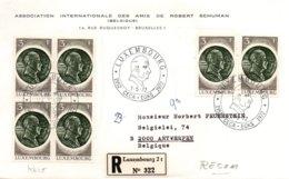 O42 Robert Schuman CECA  EGSK - Luxembourg 1972  - FDC Recommandé    TTB - European Ideas