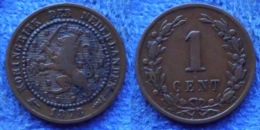 NETHERLANDS - 1 Cent 1878 KM# 107.1 Willem III (1849-90) Copper- Edelweiss Coins - [ 3] 1815-… : Regno Dei Paesi Bassi