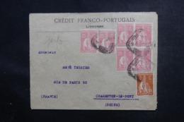 PORTUGAL - Enveloppe Commerciale De Lisbonne Pour La France En 1924, Affranchissement Perforés Multiple - L 48011 - Covers & Documents
