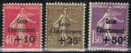 DO 15357 FRANKRIJK SCHARNIER YVERT NR 266/268  ZIE SCAN - Caisse D'Amortissement