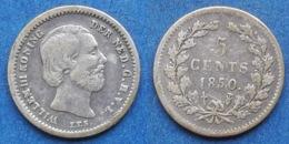 NETHERLANDS - Silver 5 Cents 1850 KM#91 Willem III (1849-1890) - Edelweiss Coins - Ohne Zuordnung
