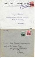 2 X Lettre Deutsches Reich   MONS ( Engrais Bernard Mesvin Ciply ) +  LAMBUSART - Guerre 14-18